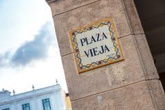 Plaza Vieja, Λα Habana Στοκ εικόνες με δικαίωμα ελεύθερης χρήσης