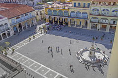 Plaza Vieja στην Αβάνα, Κούβα Στοκ εικόνα με δικαίωμα ελεύθερης χρήσης