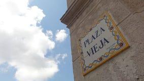 Plaza Vieja στην Κούβα Στοκ Εικόνες