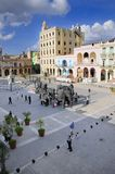 Plaza Vieja during 10th havana art biennal. Royalty Free Stock Images