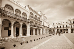 Plaza Vieja, Avana immagine stock