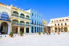 Plaza Vieja with colorful buildings, Havana Royalty Free Stock Photo