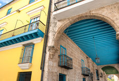 Plaza Vieja Cuba la Caraïbe Photographie stock