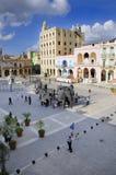 Plaza Vieja durante o 10o biennal da arte de havana. Imagens de Stock Royalty Free