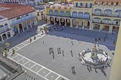 Plaza Vieja en La Habana, Cuba Imagen de archivo libre de regalías