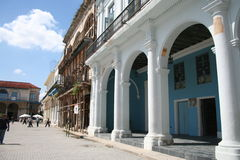 Plaza Vieja Havana, Cuba. Royalty Free Stock Photo