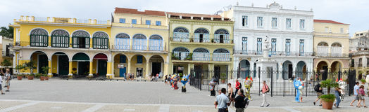 Plaza Vieja with its many recently restored colonial buildings Royalty Free Stock Image