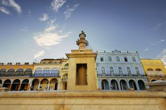 Plaza Vieja, Old Havana, Cuba. FEB 8TH, 2010 Royalty Free Stock Image