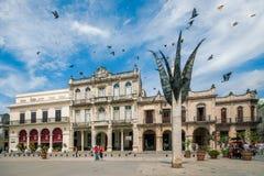 Plaza Vieja a vecchia Avana, Cuba fotografia stock
