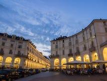 Plaza Vittorio de la ciudad de Turín Italia Imagen de archivo