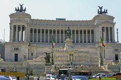Plaza y el monumento Victor Emanuel Imagenes de archivo