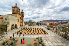 Plazaaktivitet i Oaxaca, Mexico Royaltyfri Bild