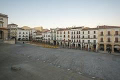 Plazaborgmästare i Caceres royaltyfri bild