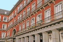 Plazaborgmästare Madrid arkivbilder
