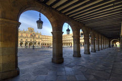 Plazaborgmästare. Salamanca Royaltyfri Foto