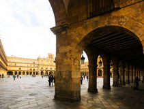 Plazaborgmästare Salamanca Arkivbilder