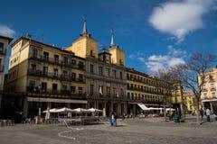 Plazaborgmästare i Segovia Royaltyfri Fotografi