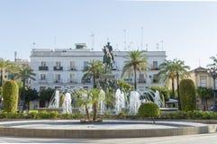 Plazadel Arenal, Jerez de la Frontera fotografering för bildbyråer
