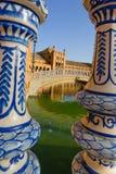 Berömd Plaza de Espana, Sevilla, Spanien Arkivfoton