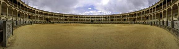 Plazaen de toros de Ronda, den äldsta bullfightingcirkeln i Spa Arkivbild