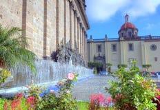 Plazaen Fundadores i Guadalajara royaltyfria bilder
