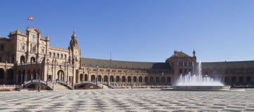 Plazaespagna, andaloucia, sevilla Royaltyfria Foton