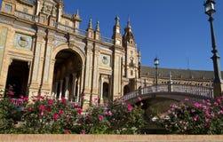 Plazaespagna, andaloucia, sevilla Royaltyfri Fotografi