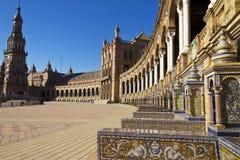 Plazaespagna, andaloucia, sevilla Royaltyfri Foto