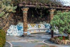 PlazaLa Glorieta i Las Manchas, La Palma, kanariefågelöar Arkivbild