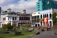 PlazaPrat huvudsaklig fyrkant i Iquique, Chile Arkivbild