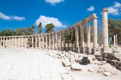 Plazat ovale dans Jerash, Jordanie Photos libres de droits