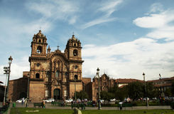 Plaze of arms in Cuzco,Peru Royalty Free Stock Photos