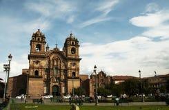 Plaze of arms in Cuzco,Peru. Church in the Cuzco,Peru Royalty Free Stock Photos