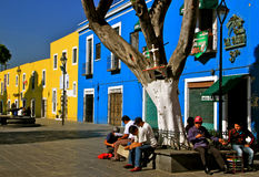 Plazuela de los Sapos, Puebla, Mexique Images libres de droits