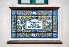 Plazuela de Publio Hurtado Stock Photos