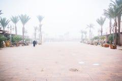 Plazza του Μαρακές στην ομιχλώδη ημέρα Στοκ φωτογραφίες με δικαίωμα ελεύθερης χρήσης