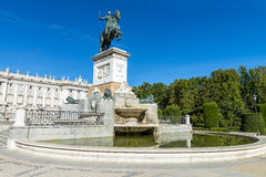 Plazza de oriente Madrid Royalty Free Stock Photos