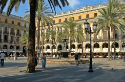 Plazza Reial Images libres de droits