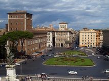 Plazza Venezia em Roma fotos de stock