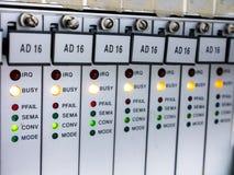 Plc以状态LED 免版税库存图片