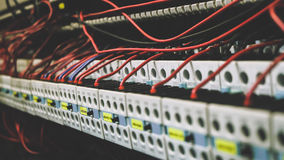 PLC Cabling Stock Photo
