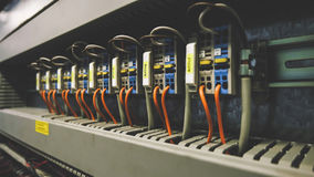 PLC Cabling Royalty Free Stock Image
