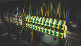 PLC Cabling Royalty Free Stock Photography