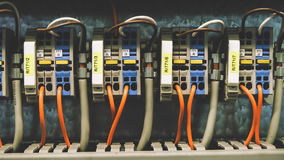PLC Cabling Royalty Free Stock Photo