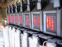 Plc con stato LED immagini stock libere da diritti