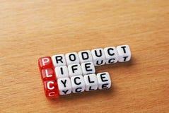PLC, cycle de vie des produits Images stock