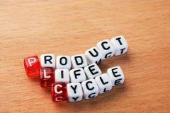 PLC, cycle de vie des produits Image libre de droits