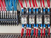 PLC de câblage photographie stock
