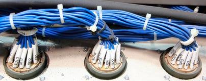 PLC del cableado fotos de archivo