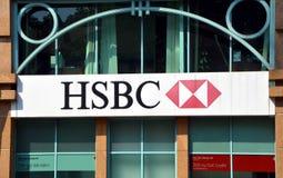 Plc delle tenute di HSBC Fotografia Stock Libera da Diritti